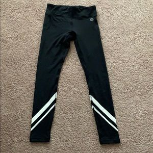 Tory Burch sport black workout leggings small s